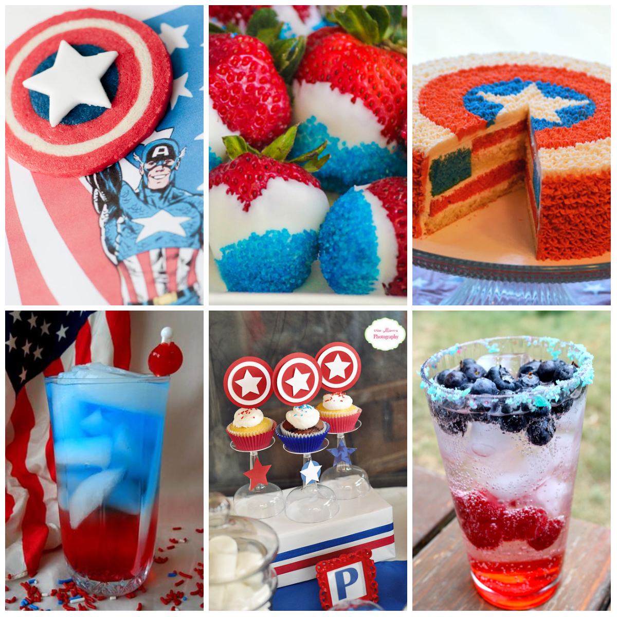 Captain America Fourth Of July Party