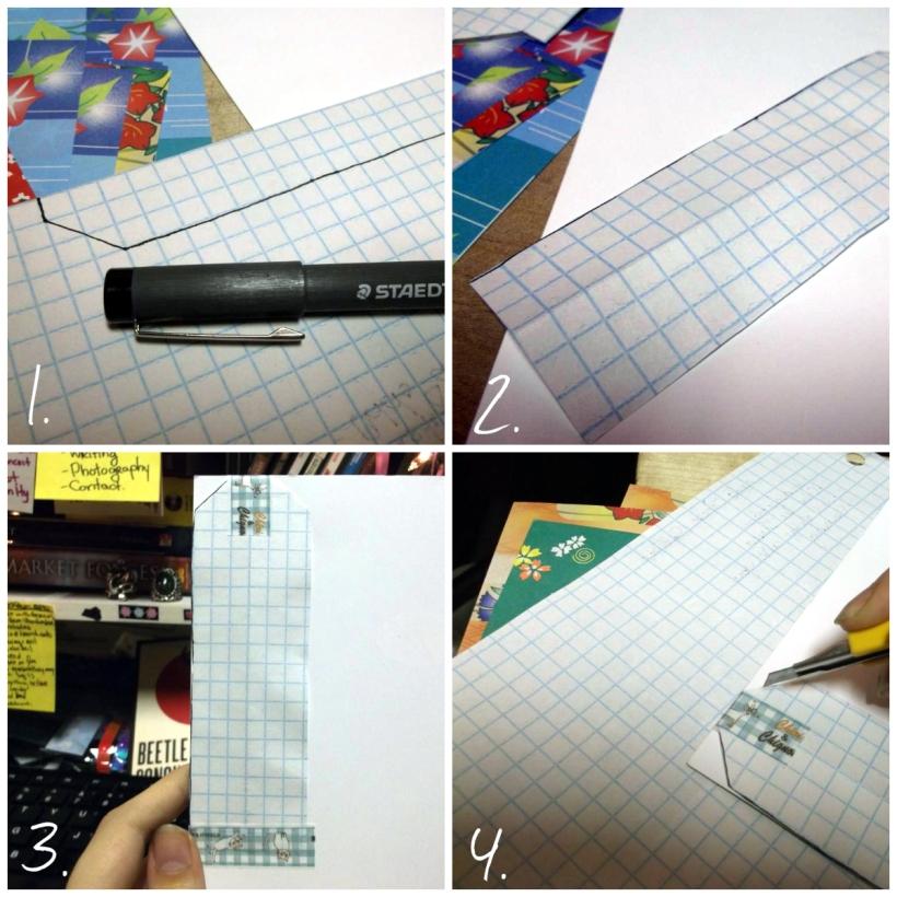 DIY Recycled Romance Novel Bookmark Craft Tutorial - Steps 1-4