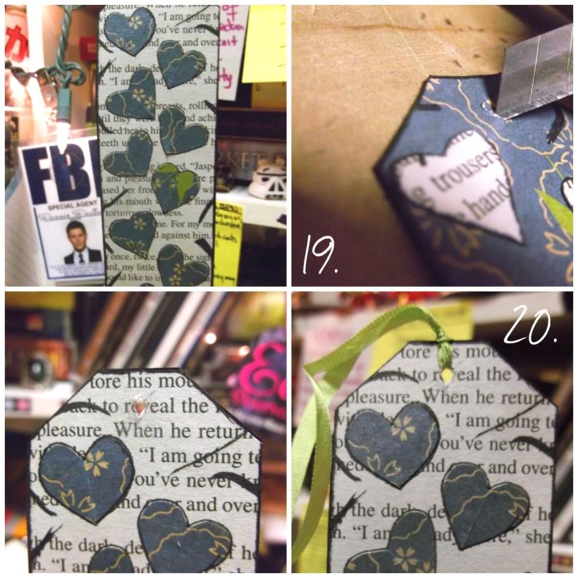 DIY Recycled romance novel bookmark tutorial craft