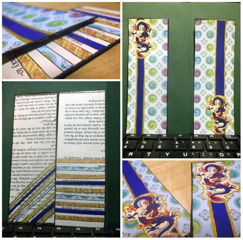 DIY romance novel book page bookmark tutorial