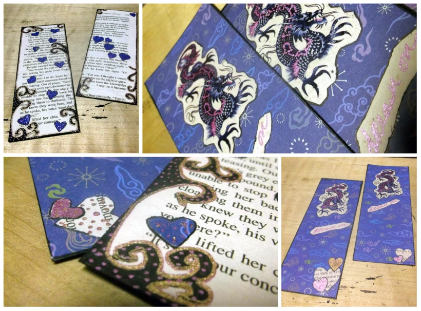 DIY recycled book page bookmark tutorial