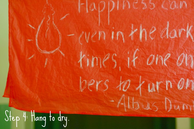 DIY Harry Potter Quote Scarves - step 4