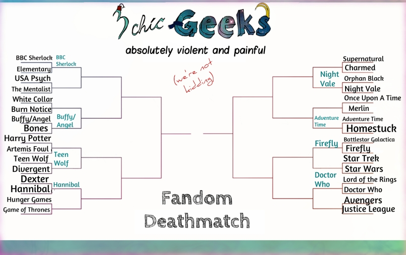 Here's the thing, if you wish to follow the thing. The victors of Round 1, Part 1 are in teal! :)
