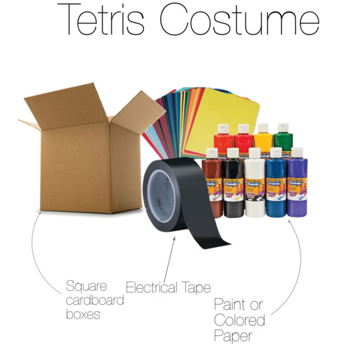 Tetris costume supplies