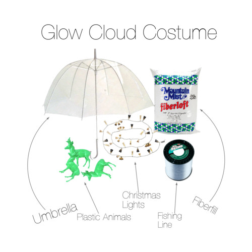 Glow Cloud costume supplies
